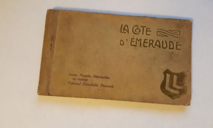 Vintage Booklet of 20 Colored French La Cote D' Emeraude Post Cards Unmailed