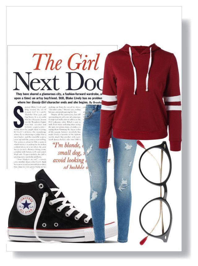 The girl next door by perihankaf on Polyvore featuring polyvore fashion style Ted Baker Converse clothing