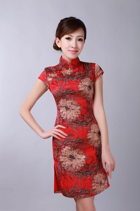 Fashion-tinggi-merah-pakaian-tradisional-cina-Wanita-katun-Qipao-cheongsam-Pengantin-pesta-pernikahan-gaun-bunga-Ukuran.jpg (480×720)