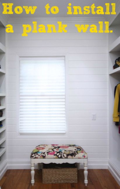 How to install a tongue and groove plank wall -http://sawdustgirl.com/