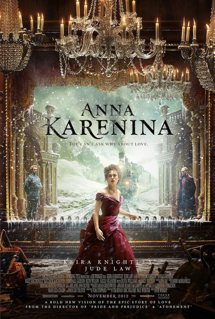 Anna Karenina is a 2012 British drama film directed by Joe Wright adapted  by Tom Stoppard from Leo Tolstoy's 1877 novel of the same name.