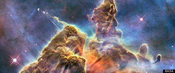 a real picture from the Hubble telescope in space~ how amazing!