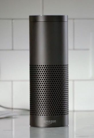 The Amazon Echo can play music, track the news, tell you the weather, remember your shopping list and even tells you jokes.