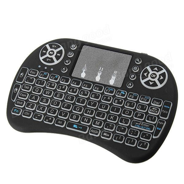 I8 White Backlit 2.4Ghz Wireless Mini Keyboard Air Mouse Touchpad Sale - Banggood.com