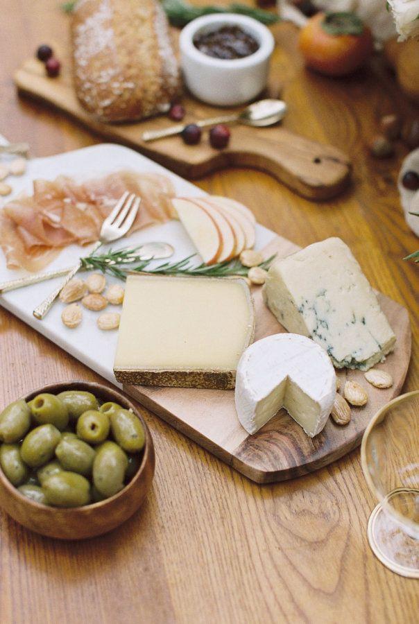 Shmorgishborg appetizers: http://www.stylemepretty.com/oregon-weddings/portland/2016/11/23/autumn-fall-wedding-inspiration/ Photography: Jamie Rae - http://jamieraephoto.com/