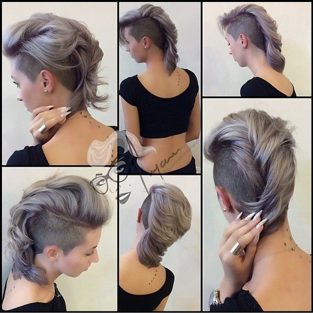 All sizes | #tbt on #hottie @teananails were missing this look on her #mohawk #chickhawk #shavedsides #haircut #shorthair #silverhair #lavenderhair #whitehair #thecutlife #modernsalon #americansalon #nothingbutp | Flickr - Photo Sharing!