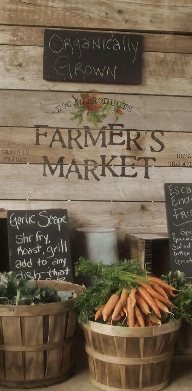 Vintage inspired logo design for a Farmers Market.