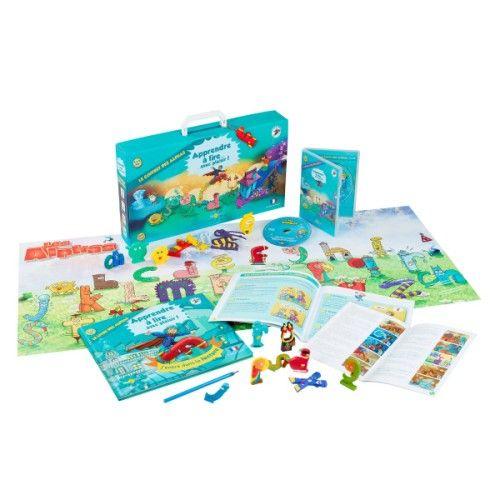 Coffret livre + 28 figurines des Alphas + DVD + CD du conte + poster géant des Alphas pour enfant de 4 ans à 7 ans - Oxybul éveil et jeux