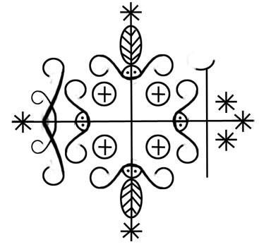 Papa Legba - Voodoo Symbols - Vodou Veves