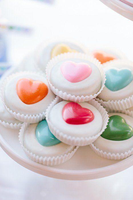 Chocolate-Covered Oreos | A Sweet Rainbow-Heart Birthday Party | POPSUGAR Moms