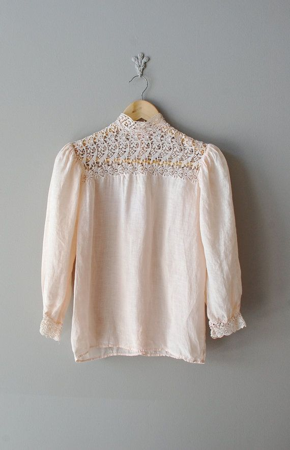 cotton lace blouse / Edwardian lace / Gibson Girl