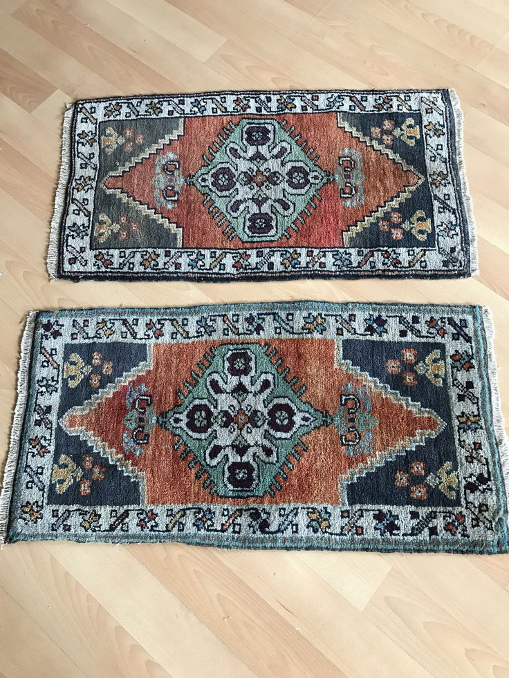 Small Turkish Rug 1 6x3ft Red Oushak Vintage Door Mat Kichten Area Hallway Anatolian Shower