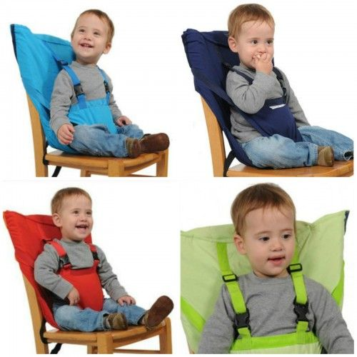 Portable Baby Kid Toddler Child Infant Newborn Travel Feeding High Chair Booster Seat Highchair Cover Cushion Sack Sacking Safety Harness Belt Strap Bag