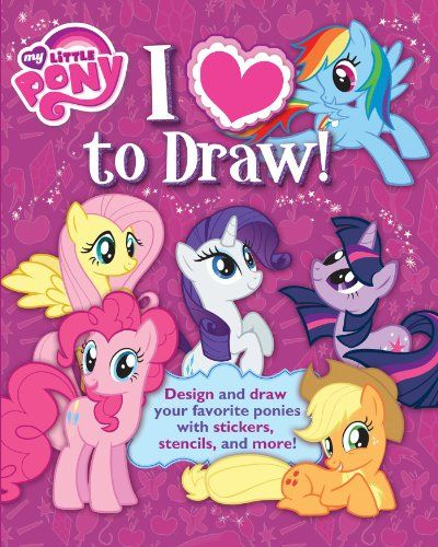 Create a plethora of My Little Pony characters with this awesome book that comes with stencils, stickers, and easy-to-follow instructions.I Love Drawing My Little Pony comes with everything kids need to draw their favorite characters from the show—and even create some of their own unique ponies and cutie marks. The book provides step-by-step drawing instructions to help kids become pony portrait masters. Then they can decorate their creations with stickers, stencils, and more! Packed with…