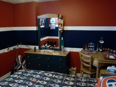 Large Stripe, Hockey Bedroom, Black Stripe Chalk Board Paint?
