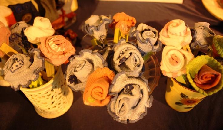 Roselline di calzini / Roses of socks - by Francesca Gentile