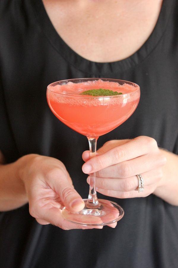 watermelon champagne cocktail #BHGSummer