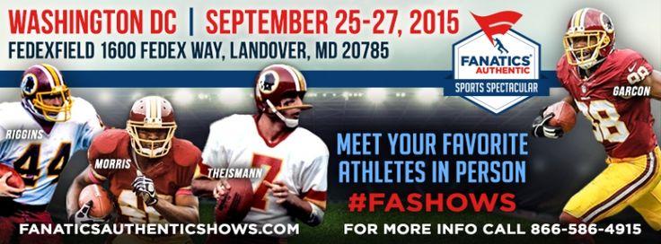 FedEx Field 1600 FedEx Way, Landover MD 20785  Friday, September 25, 2015 Mike Nelms, Fred Dean, Bill Brundgie, Frank Howard, Paul Laaveg