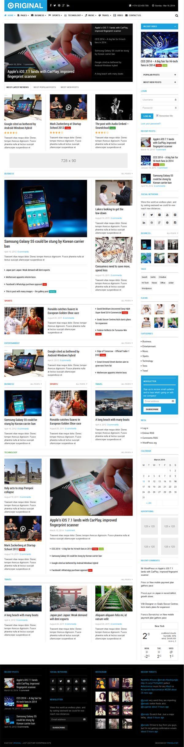Original : Responsive Magazine WordPress Theme