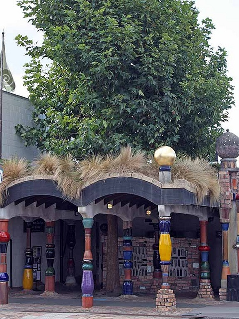 KawaKawa, NZ, Hundertwasser designed public toilets. I was born in NZ and have used these facilities! They are amazing inside too.....