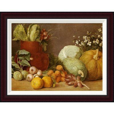 "Global Gallery Bodegon by Felipe Gutierrez Framed Painting Print Size: 20.4"" H x 26"" W"