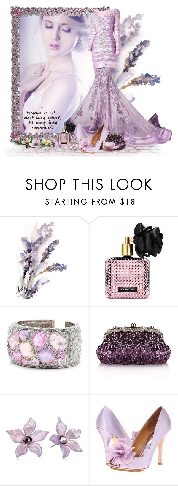 """Remembered Elegance"" by flowerchild805 ❤ liked on Polyvore featuring Victoria's Secret, Chicnova Fashion, Tarina Tarantino and Badgley Mischka"