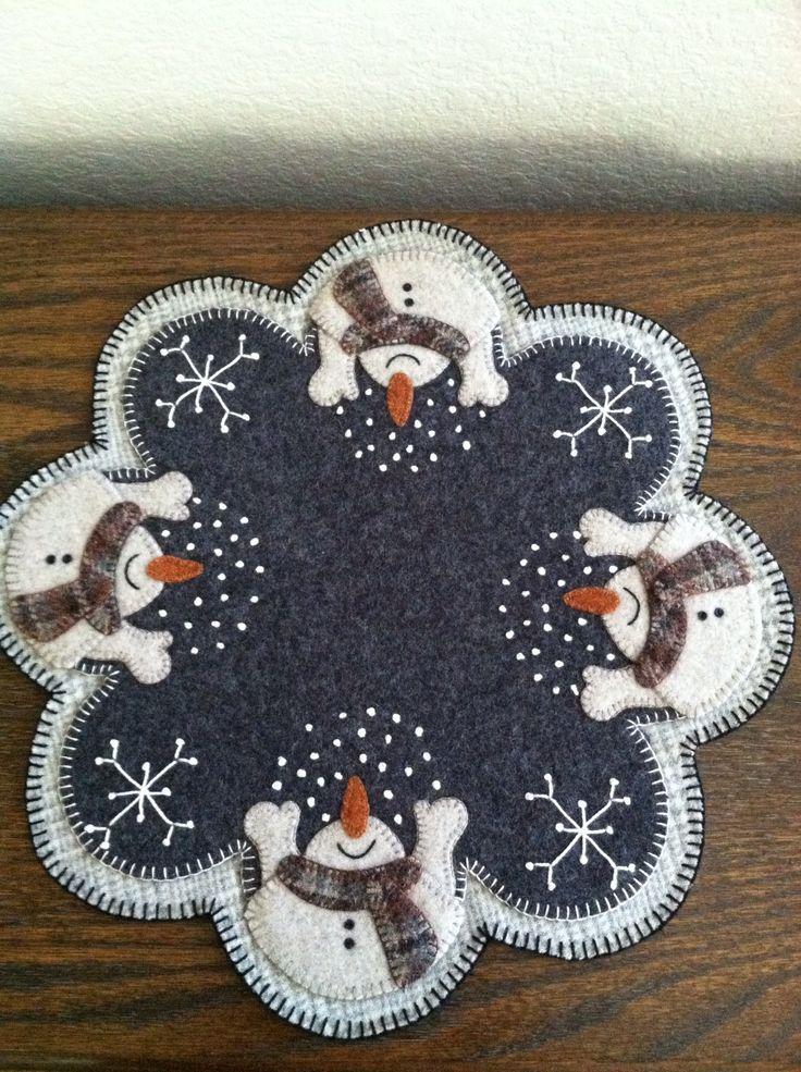 Christmas penny rug