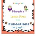 Kindergarten Phonics Lesson Plans Unit 1 Week 8: Includes a full week of Fundations lesson plans with:  *Learning outcomes for each activity  *CCLS...