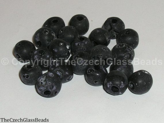 50g Czech Vintage Sintered Saucer Beads 12mm by TheCzechGlassBeads