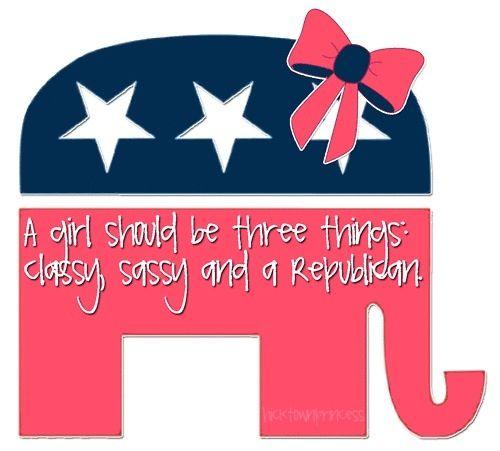 Sassy, classy & a Republican                                                                                                                                                                                 More