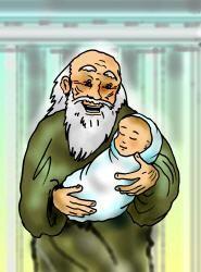 Jünger  Simeon mit Jesuskind