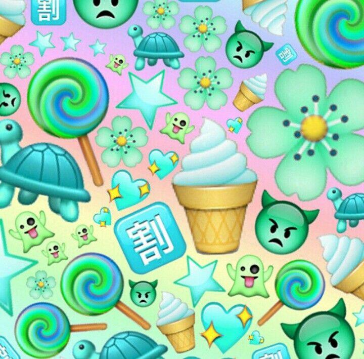 Green Blue Emoji Edit Edits Pinterest Green And Blue