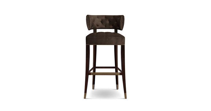 ZULU Modern Bar Chairs | Upholstered Bar Stools | Bar Chairs | Modern Chairs #Restaurantinteriordesign #restaurantinteriors #hospitalityfurniture | Read more: https://www.brabbu.com/en/upholstery/