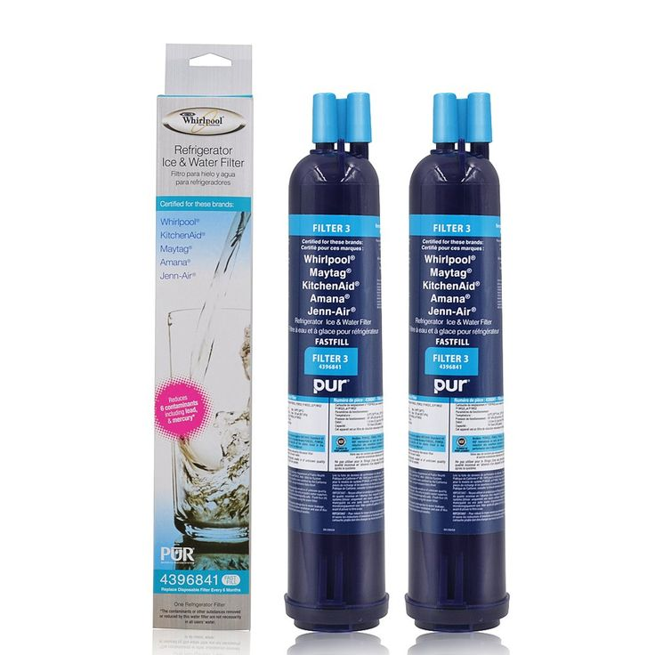 New forWhirlpool 4396841 PUR Push Button Side-by-Side Refrigerator Water Filter (2)