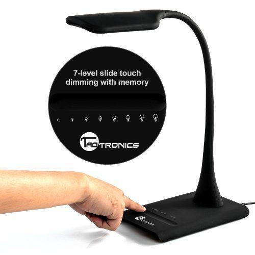 [NEW ARRIVAL] TAOTRONICS® ELUNE TT DL05 DIMMABLE EYE CARE LED DESK LAMP  (9W, FLEXIBLE NECK, 7 LEVEL DIMMER, TOUCH SENSITIVE CONTROLLER, NO  FLICKERING, ...
