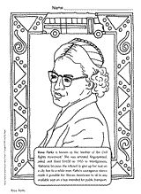 Rosa Parks coloring page for Black History Month (February)