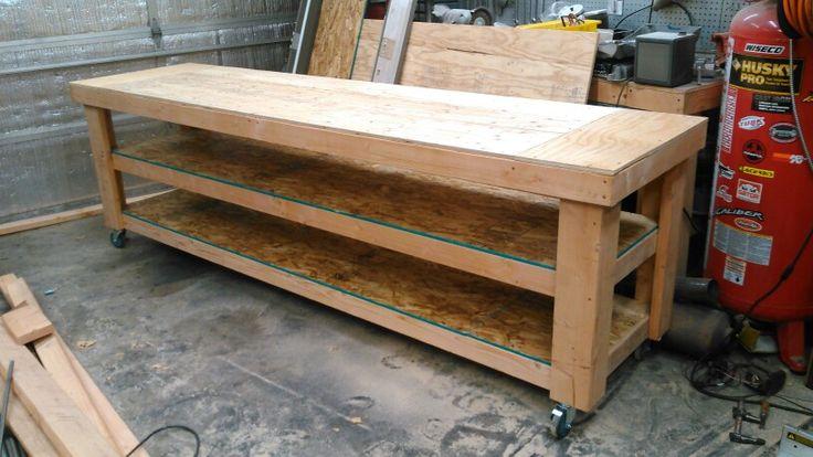 Double decker rolling workbench