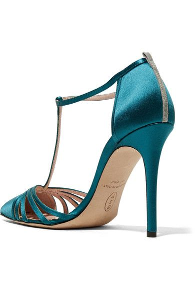 SJP By Sarah Jessica Parker - Carrie Satin Pumps - Petrol