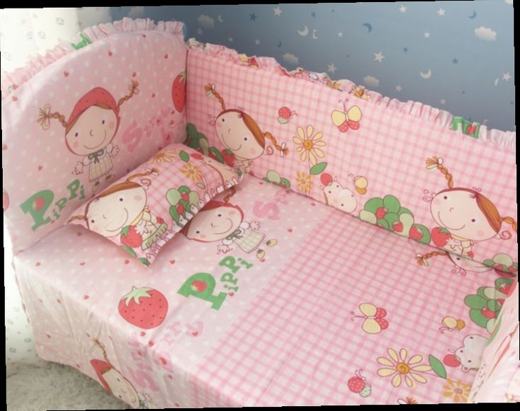 42.80$  Watch now - http://alifn0.worldwells.pw/go.php?t=32381022370 - Promotion! 6pcs Strawberry Girl bedding set baby crib bedding set baby bumpers (bumpers+sheet+pillow cover) 42.80$