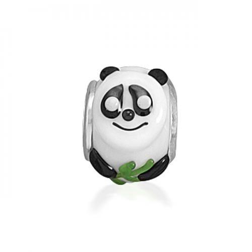 Panda Bear Glass Animal Bead Compatible with Chamilia Beads and Bracelets