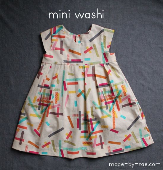 mini-washi. Can buy the pattern for an adult on Made by Rea. Loved this blogg when she use to have patterns free. But I still love this dress. for a little girl.