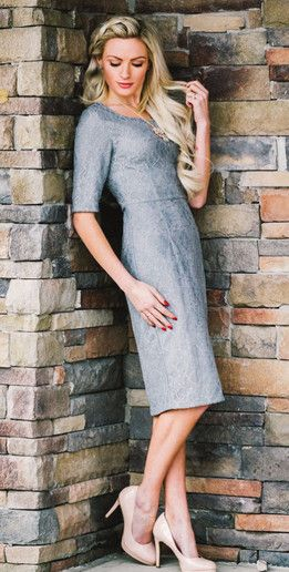 Modest lace dress, great for bridesmaids!