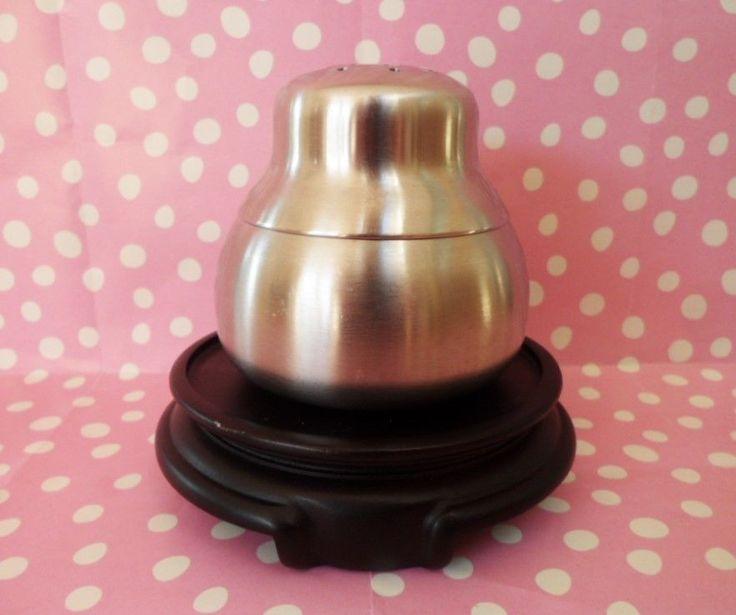 Old Hall Sugar Sifter Atomic Mid-Century Stainless Steel Vintage Tableware