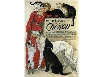 VETERINÄREN av STEINLEN JUGEND Hundar Katter Hund Katt Jugend Art Nouveau A1