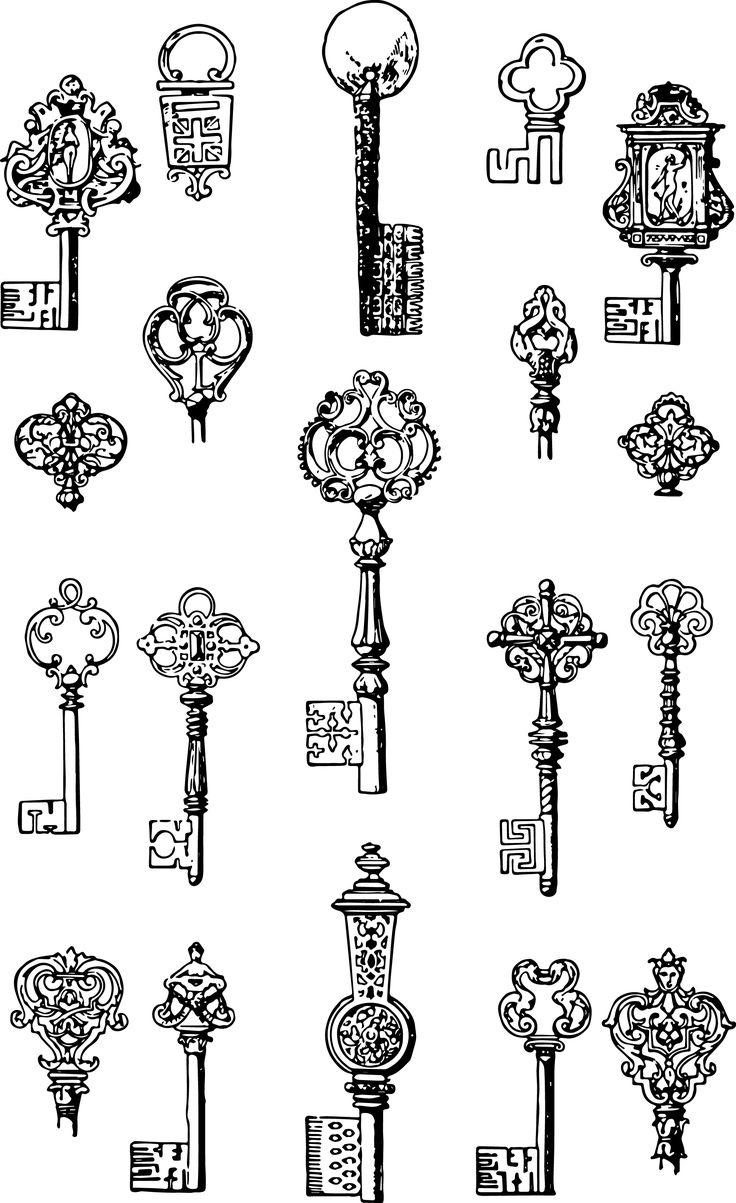Vintage Skeleton Key Clip Art