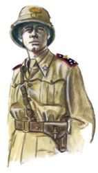 Guerra Italo Etiopica 1935-36 - Carabinieri Reali -Capitano in sahariana. Pin by Paolo Marzioli