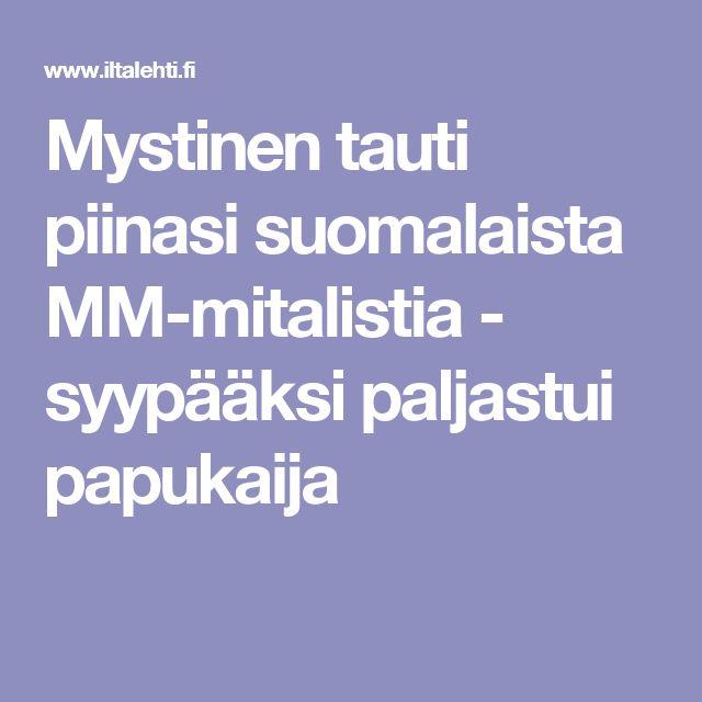 Mystinen tauti piinasi suomalaista MM-mitalistia - syypääksi paljastui papukaija