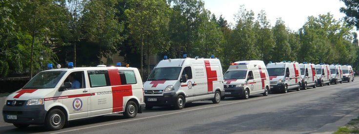 Flottánk - Aranyszív Ambulance: Tolószékkel és hordággyal felszerelt 9 mentőautó