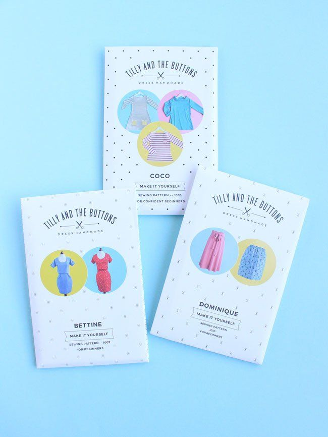 Beginner Dressmaker Sewing Pattern Bundle by Tilly and the Buttons – includes Dominique, Bettine and Coco, three gorgeous easy-to-make designs