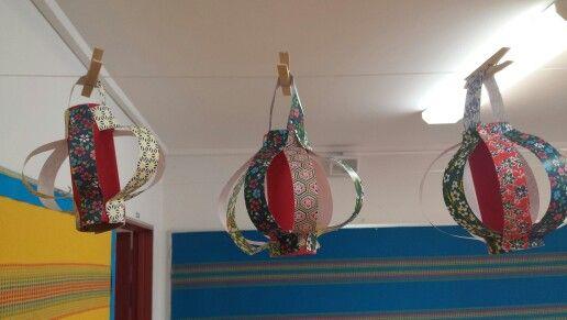 Chinese Lanterns made by Grade 4 children.